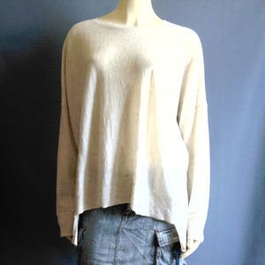 Eileen Fisher Oversized High Low Natural Sweater L